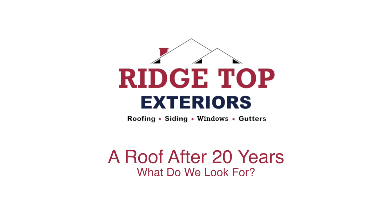 A Roof After 20 Years